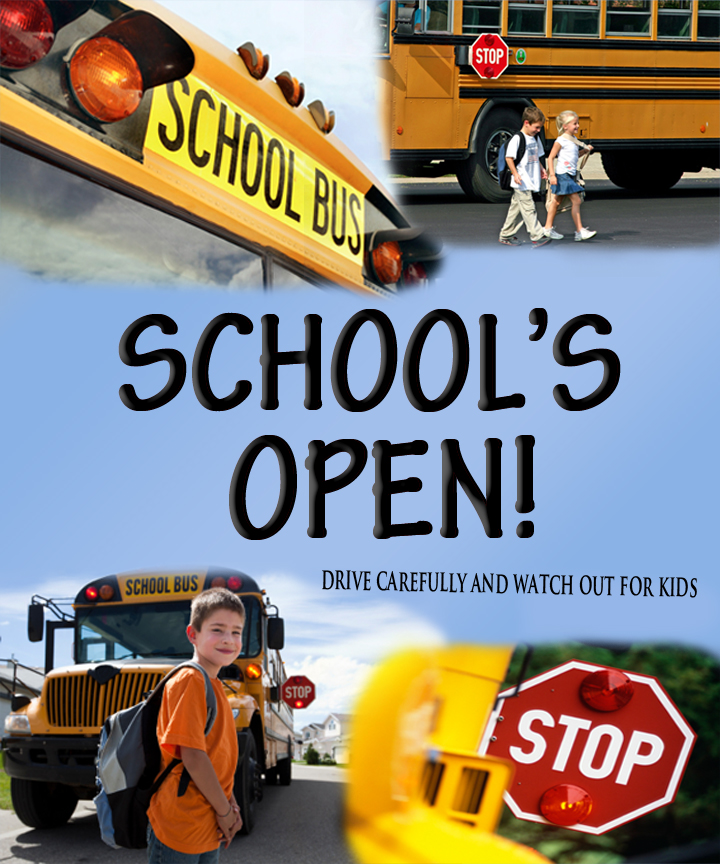 schools in session drive safe